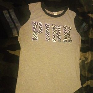 Pink Bling tee size small